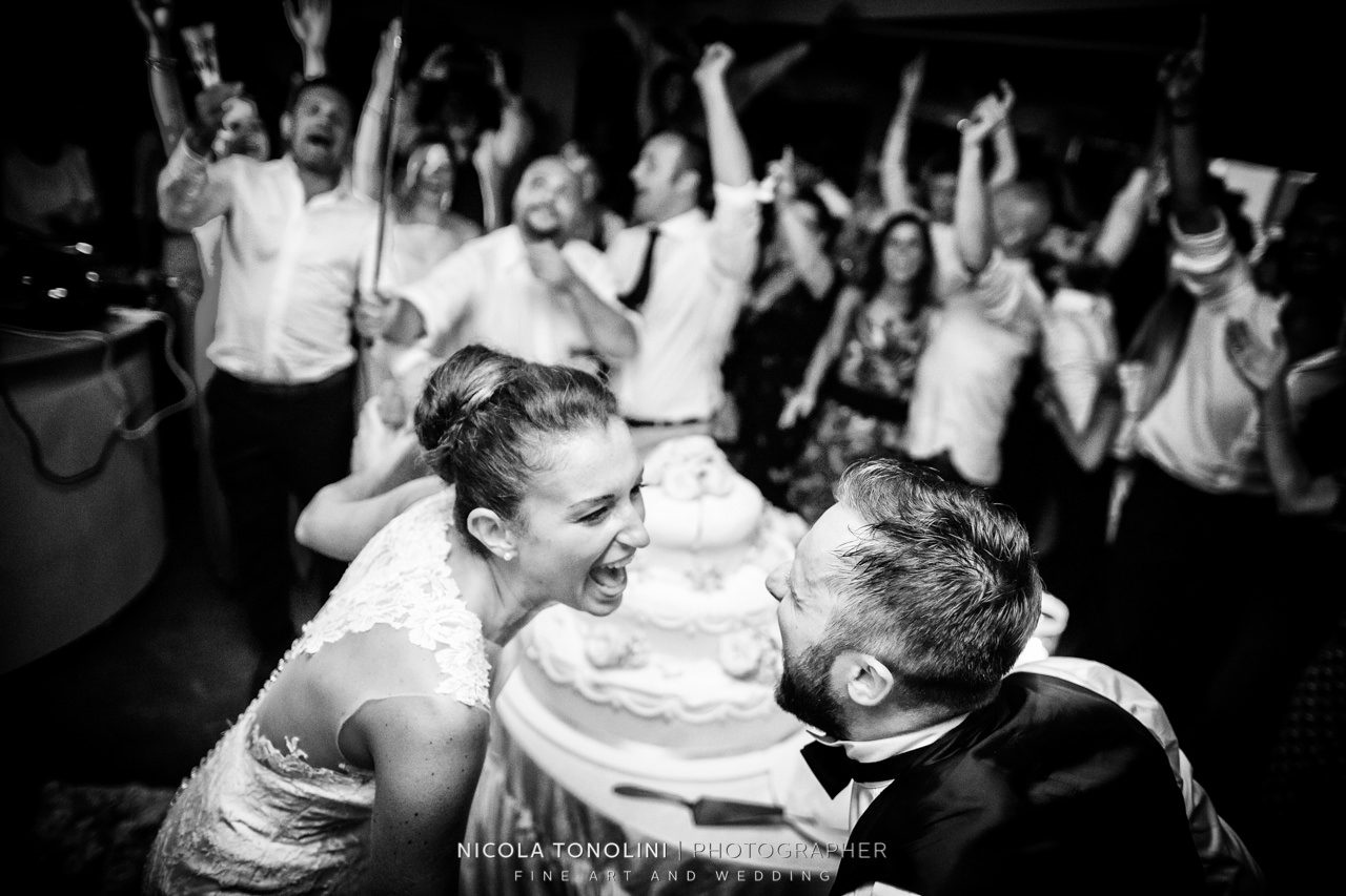 crazy wedding reception italy