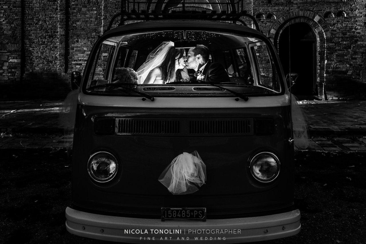 volkswagen vintage wedding car