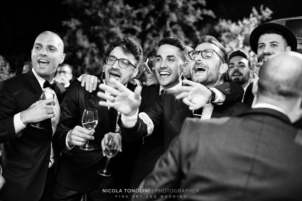 black and white wedding post production