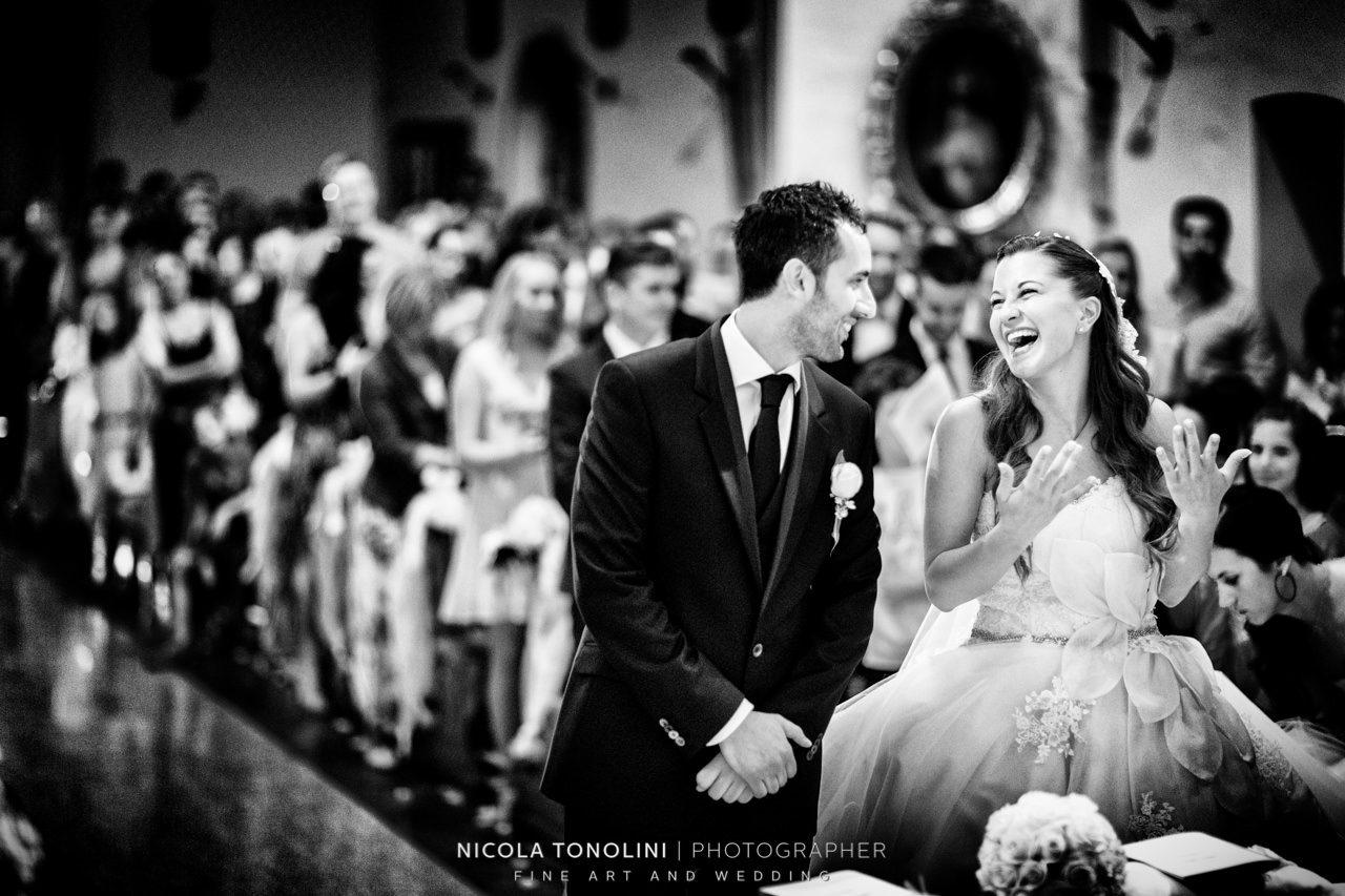 bride sing church