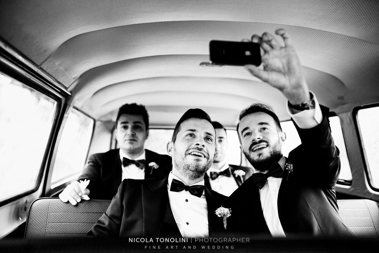 groom selfie