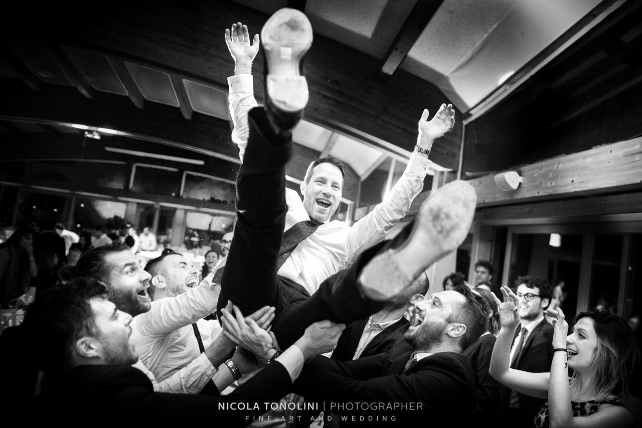 jumping groom