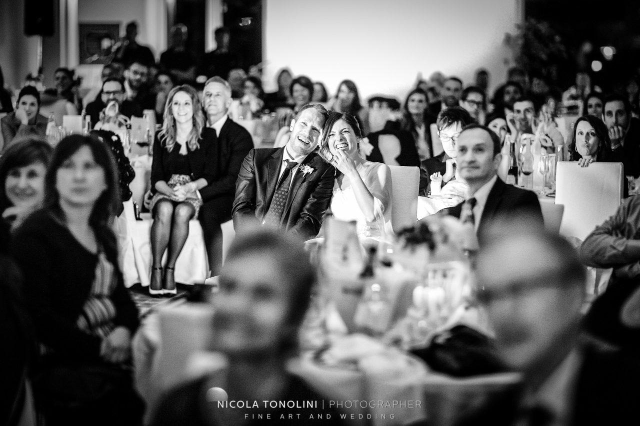 wedding reception black and white