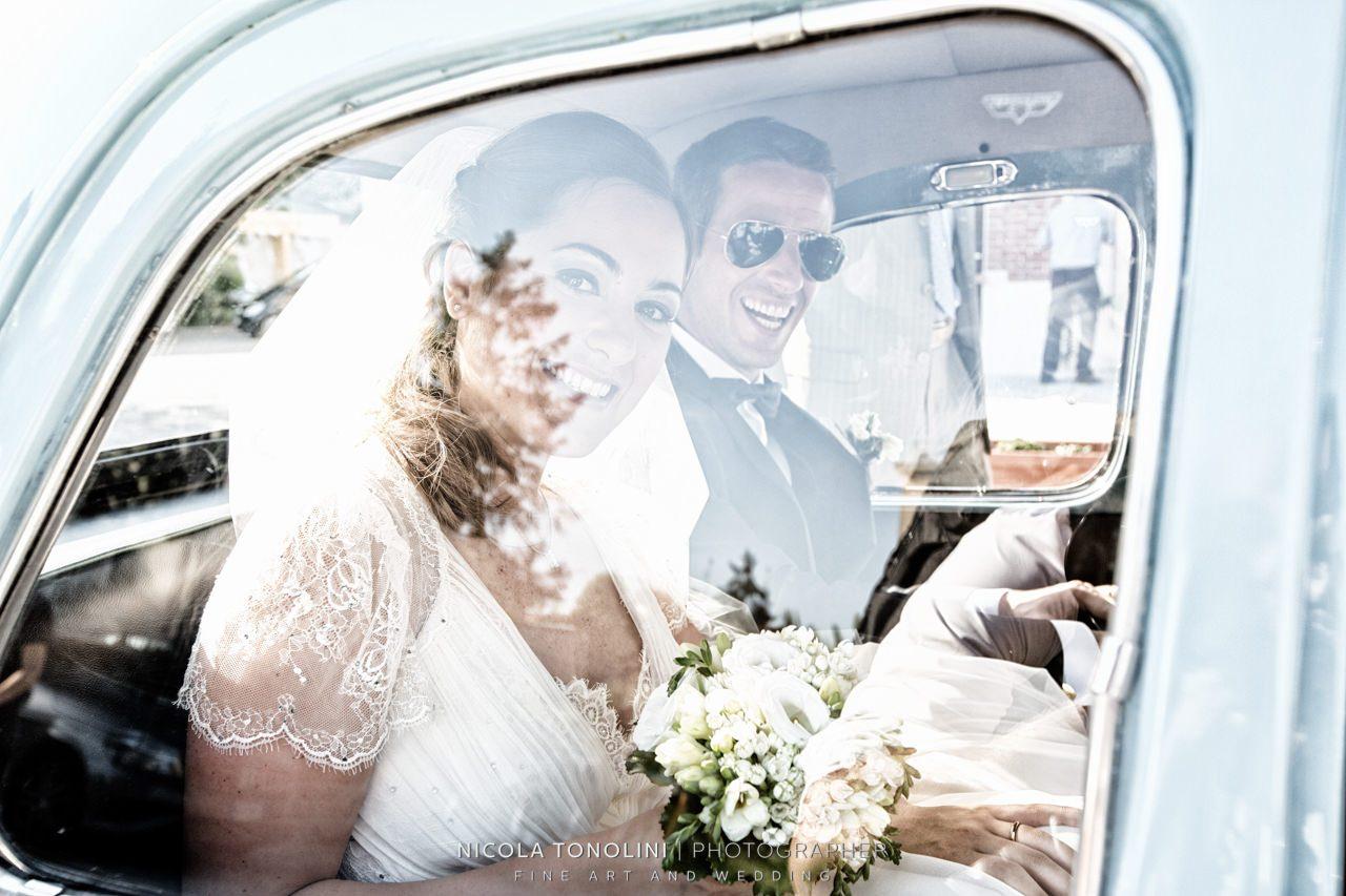 car wedding vintage
