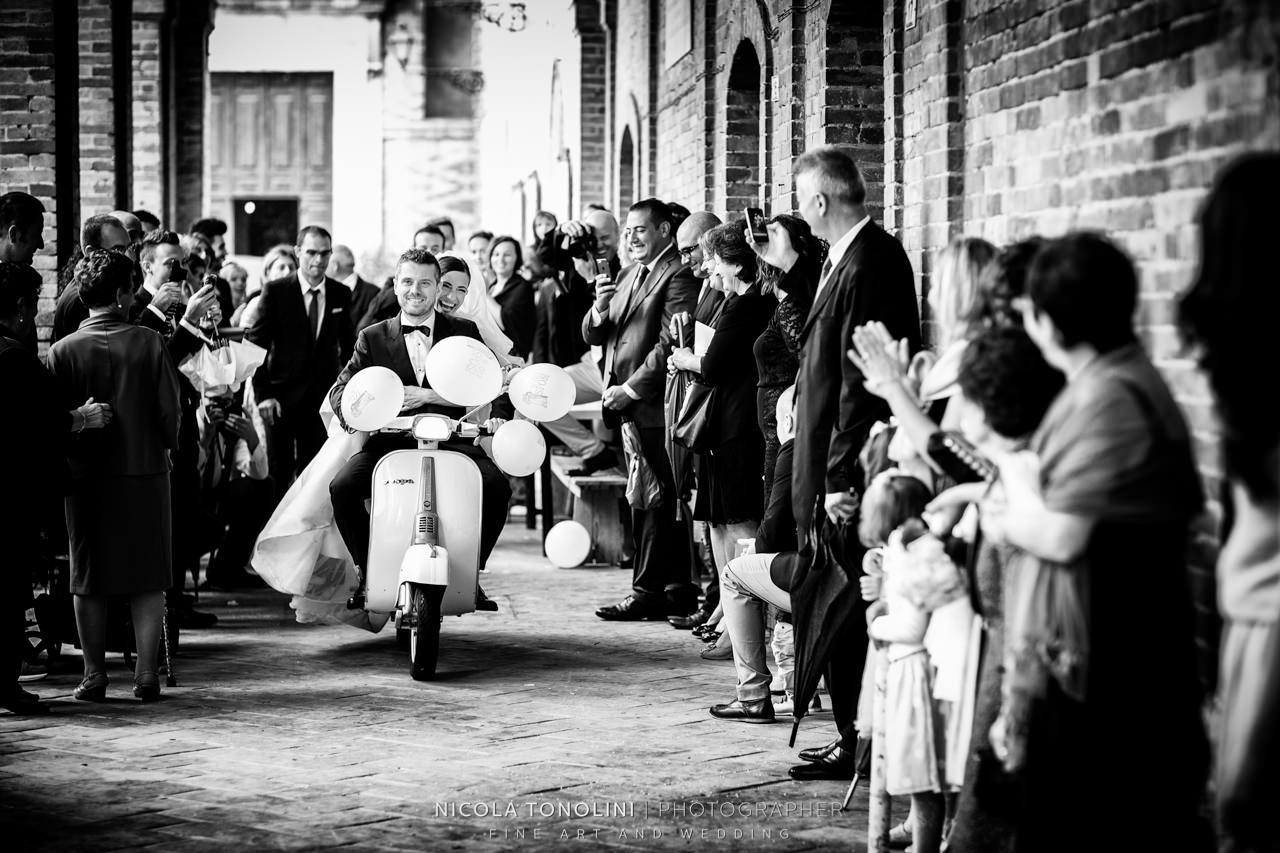 italian vespa wedding