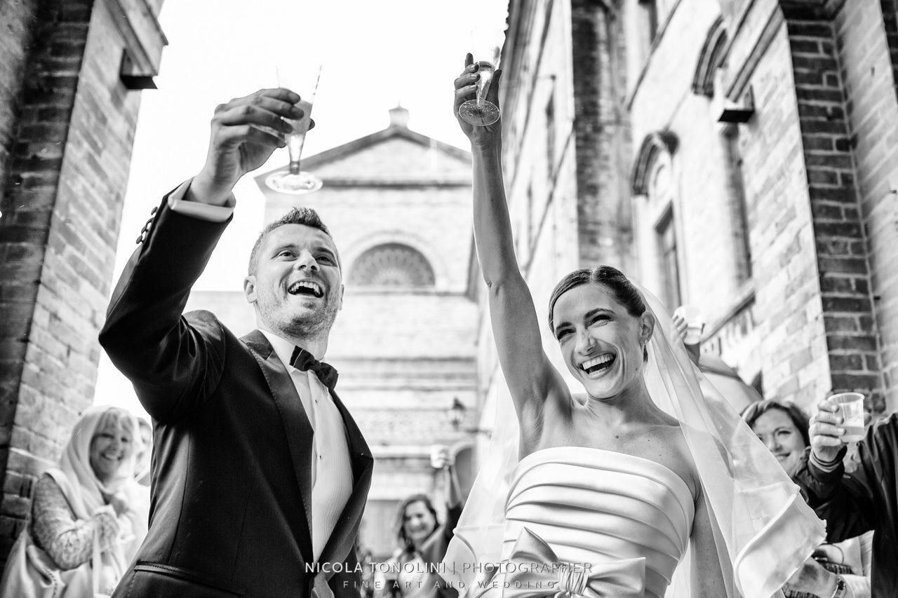 bride groom smile