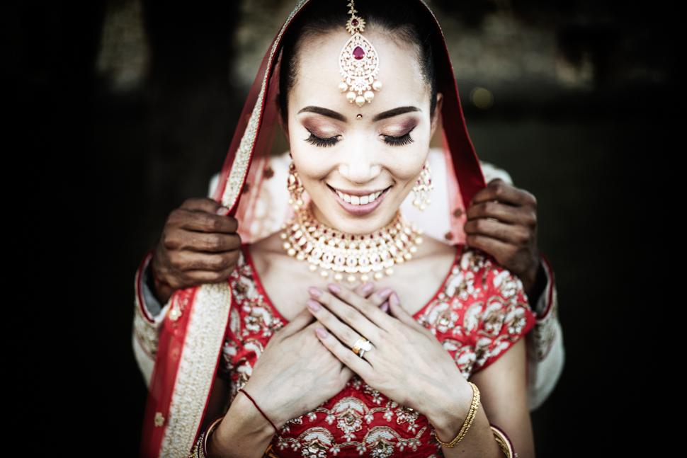 ritratto sposa matrimonio indiano